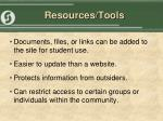 resources tools