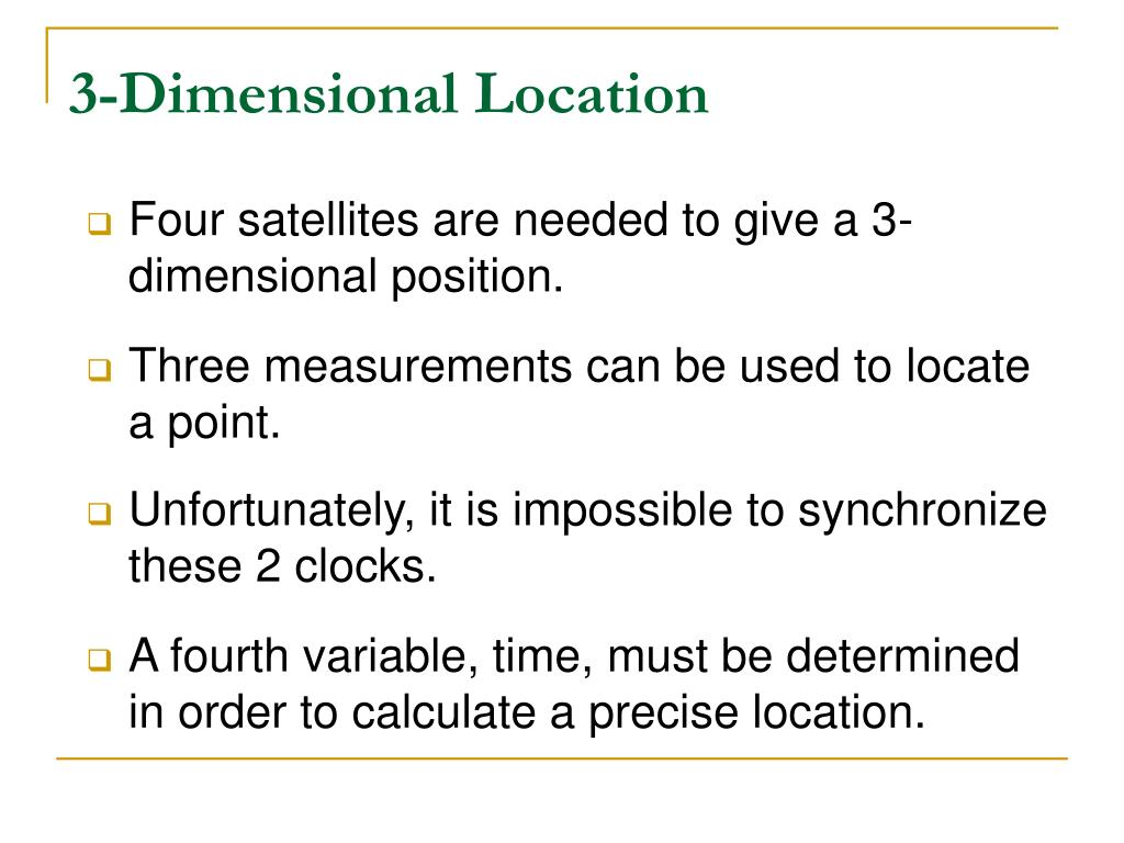 3-Dimensional Location
