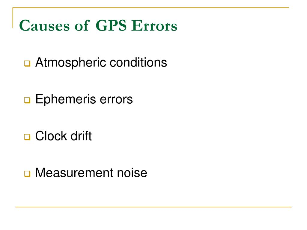Causes of GPS Errors