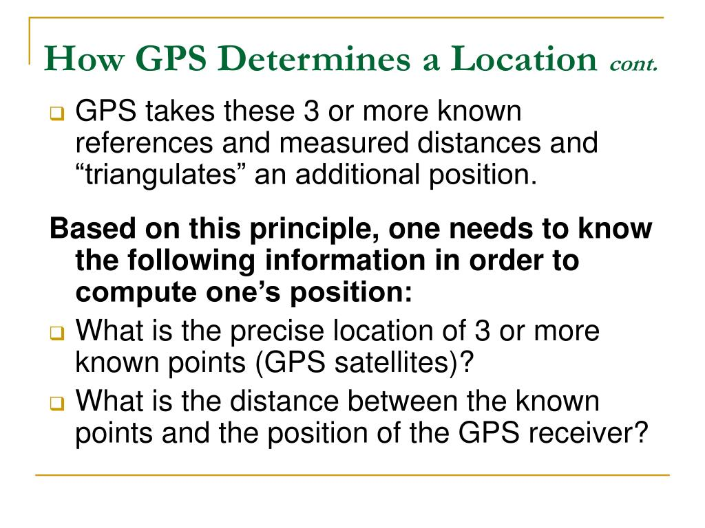 How GPS Determines a Location