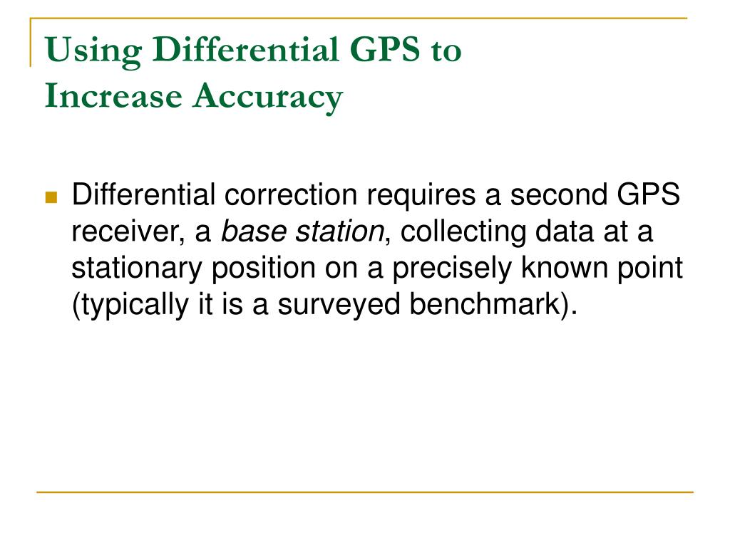 Using Differential GPS to