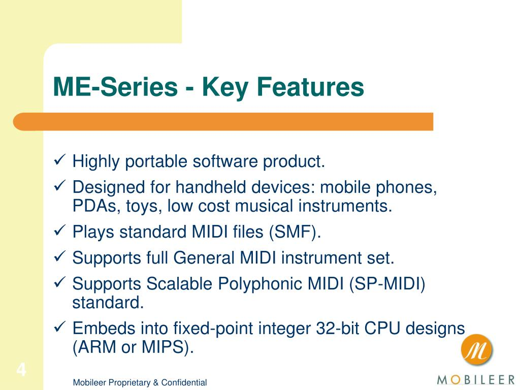 ME-Series - Key Features