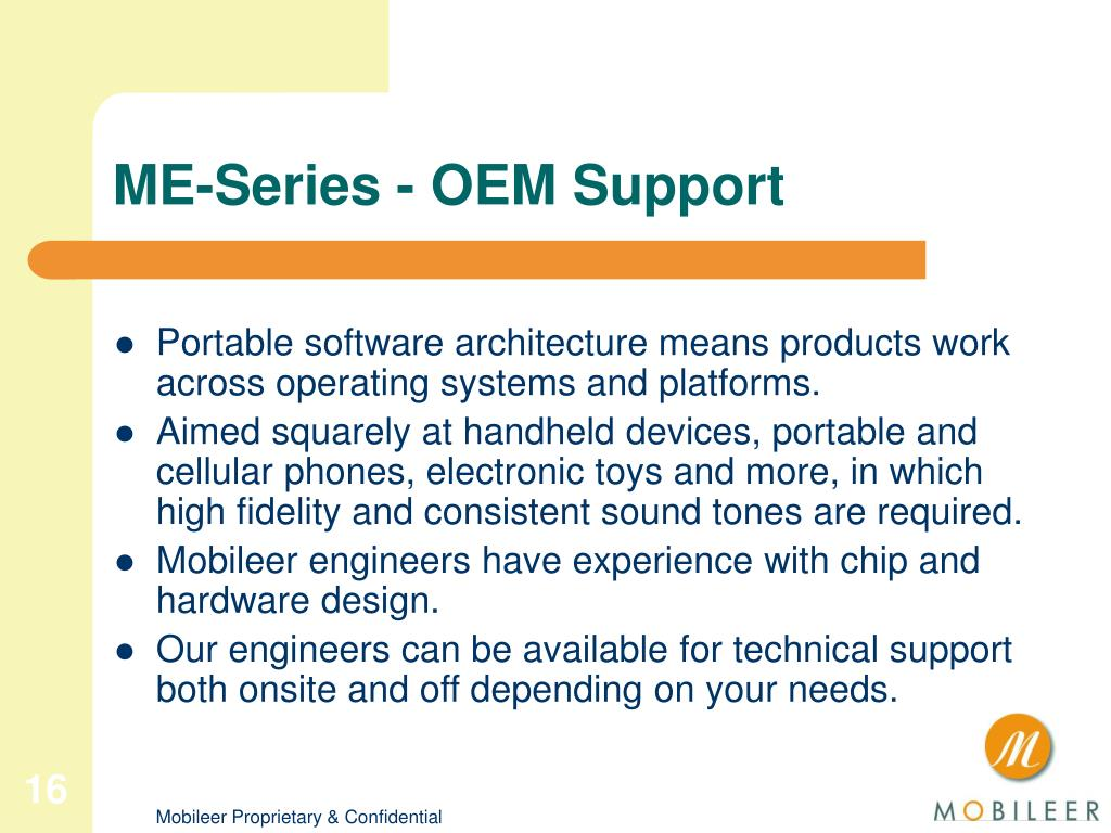ME-Series - OEM Support