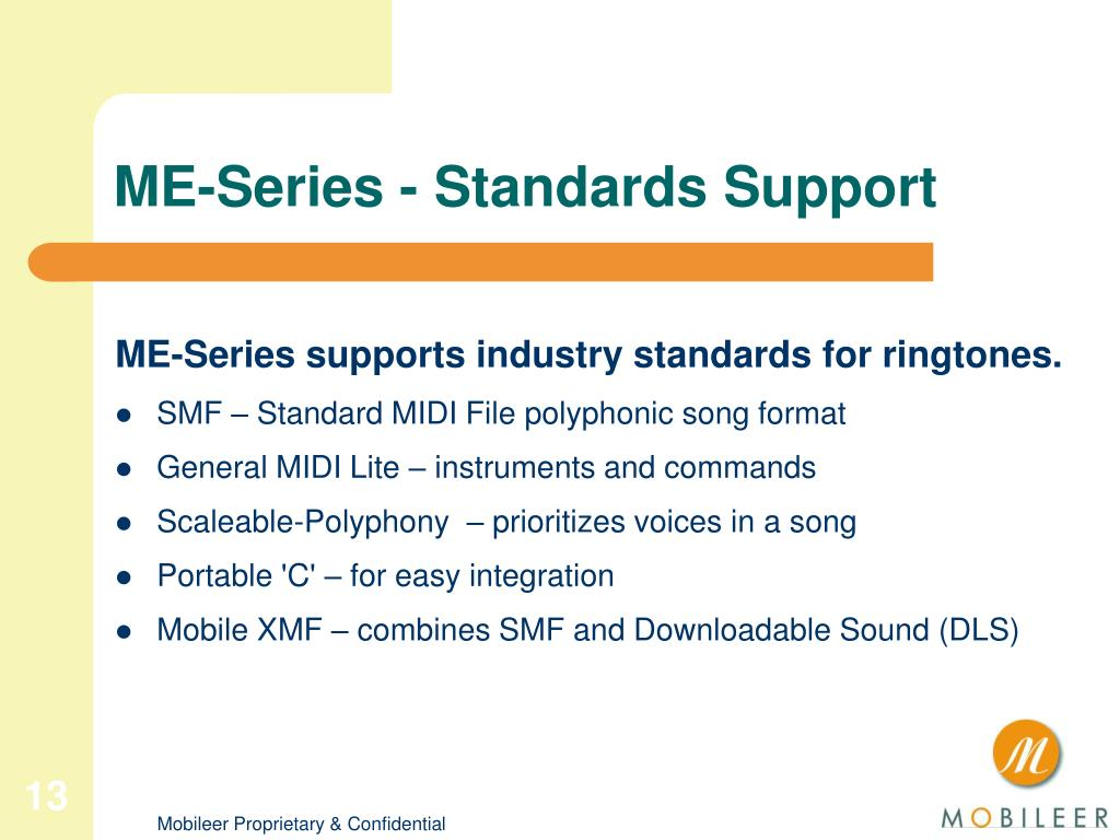 ME-Series - Standards Support