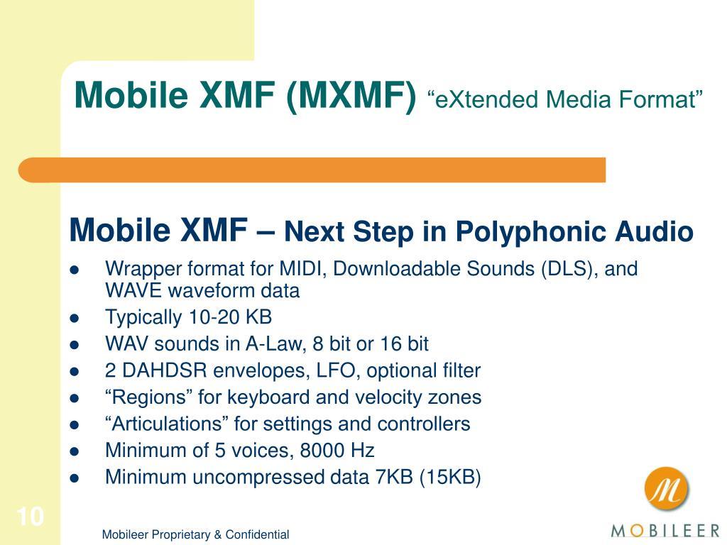Mobile XMF (MXMF)