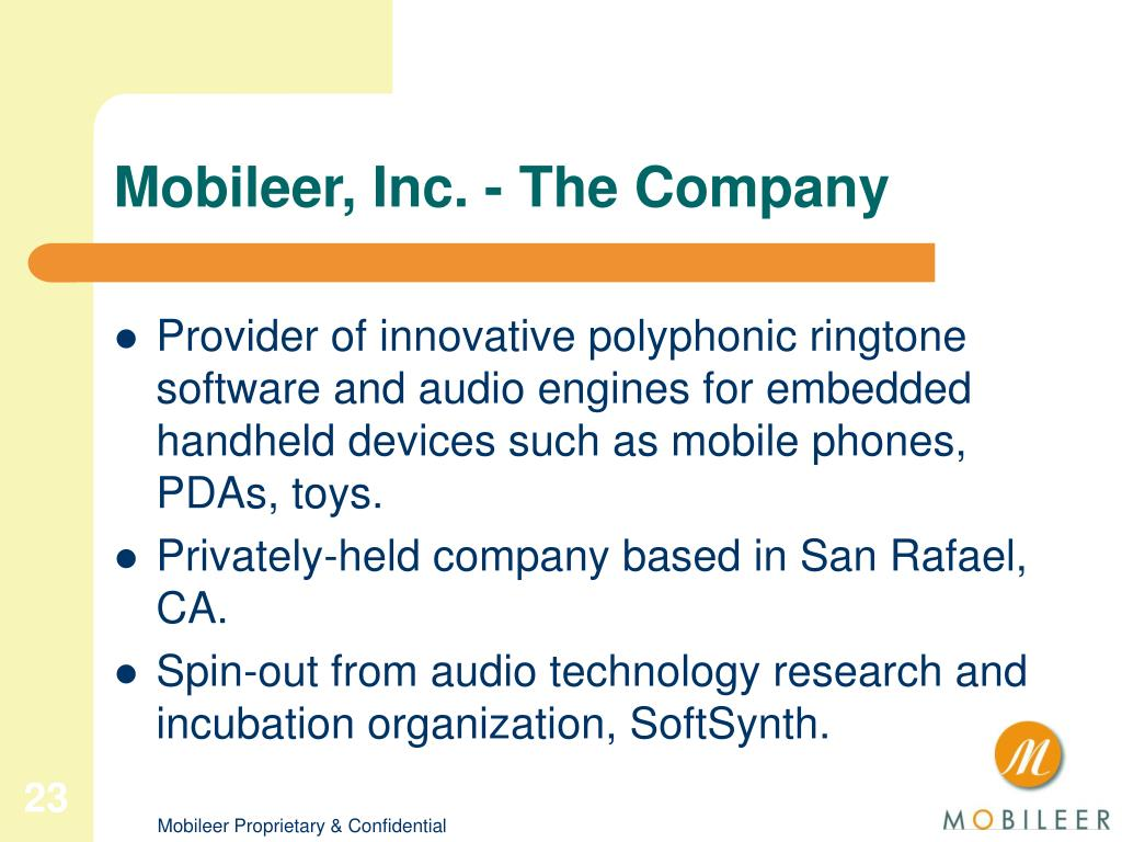 Mobileer, Inc. - The Company