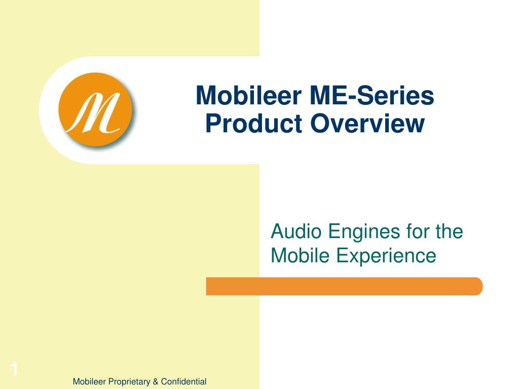 mobileer me series product overview