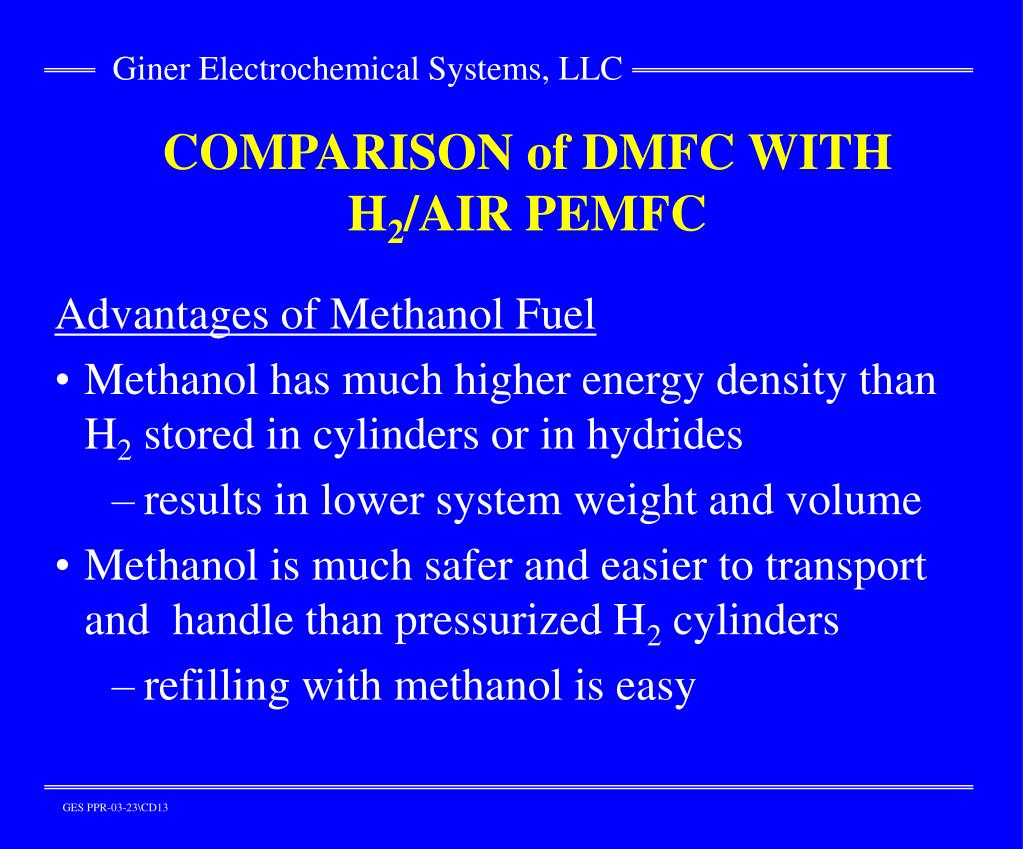 COMPARISON of DMFC WITH H