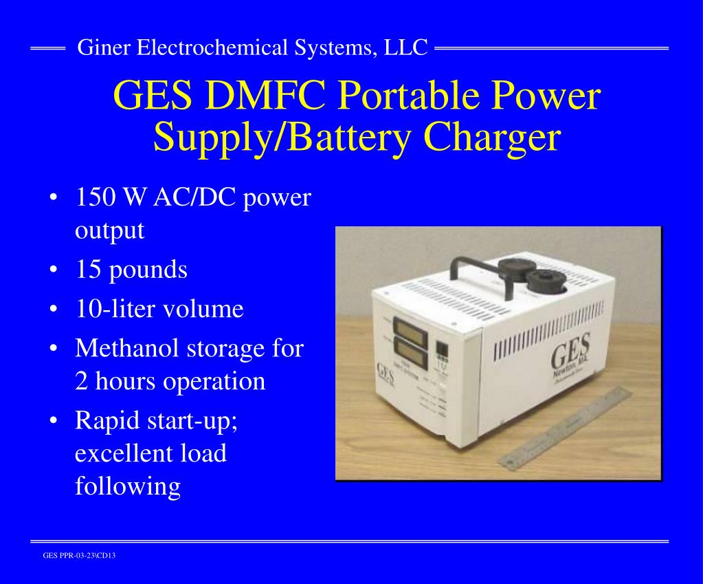GES DMFC Portable Power Supply/Battery Charger