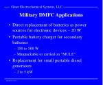 military dmfc applications
