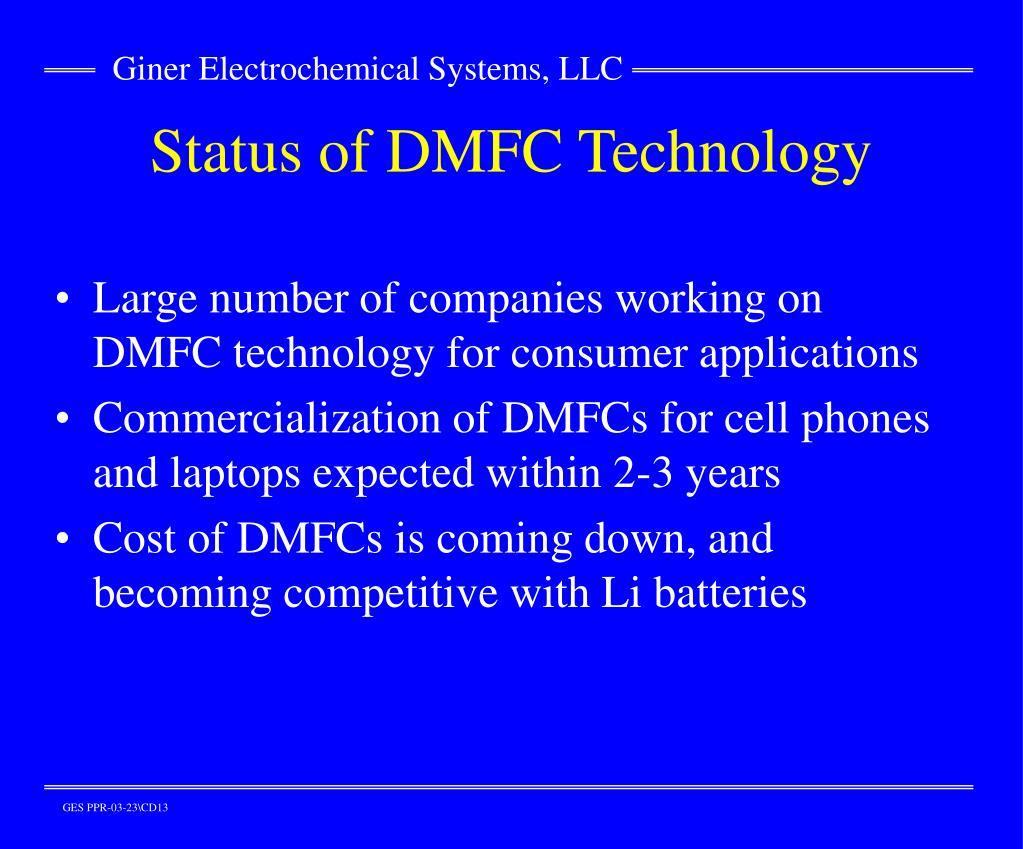 Status of DMFC Technology