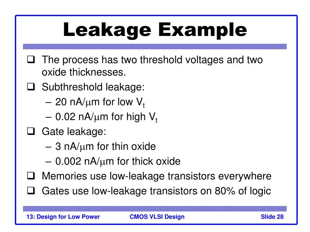 Leakage Example