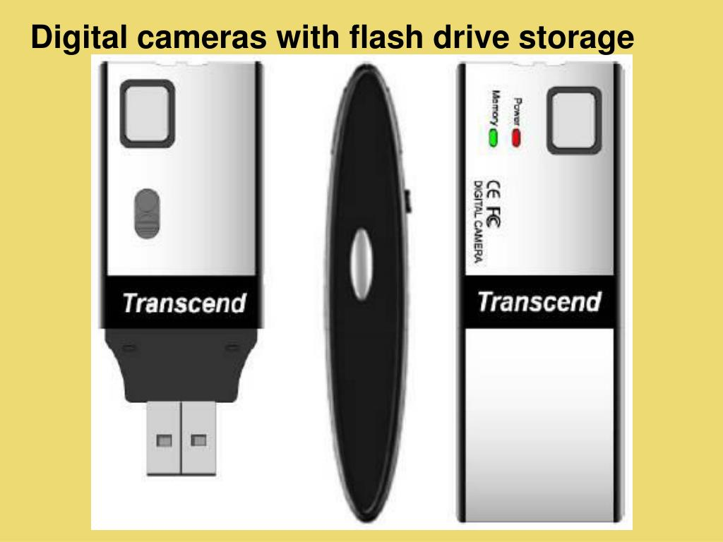 Digital cameras with flash drive storage