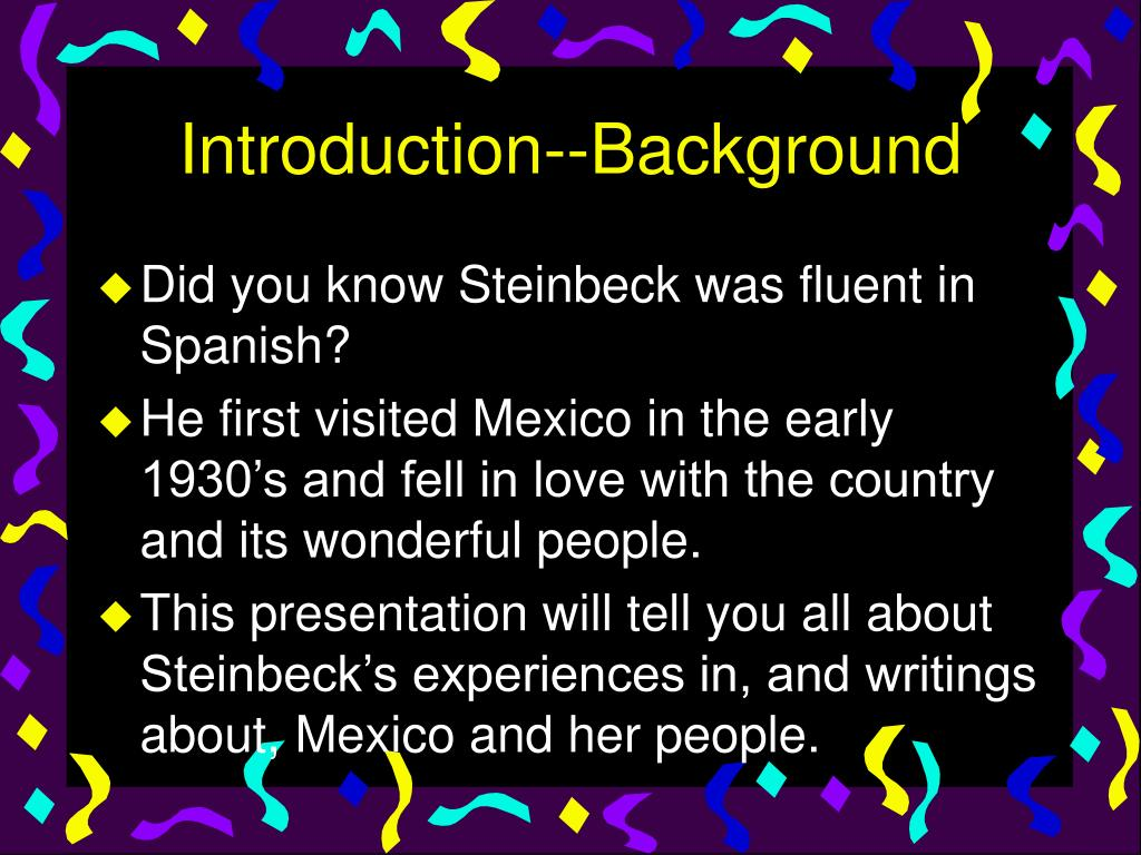 Introduction--Background