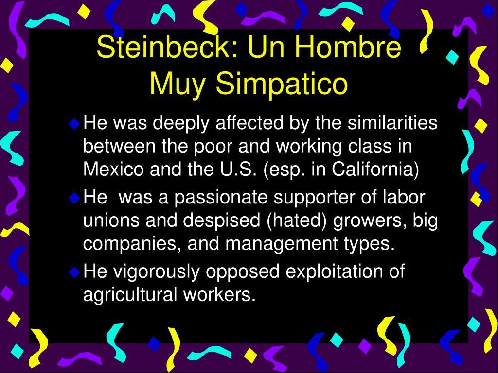 Steinbeck: Un Hombre