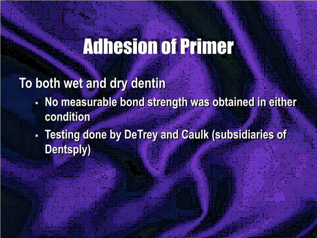 Adhesion of Primer