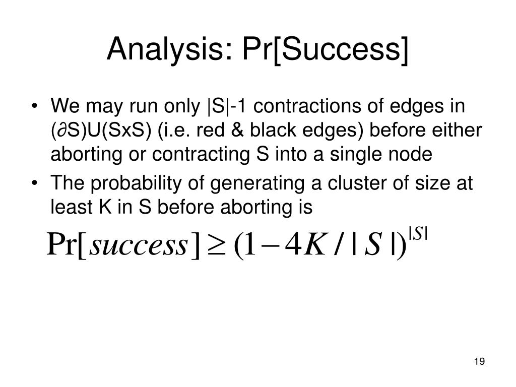 Analysis: Pr[Success]