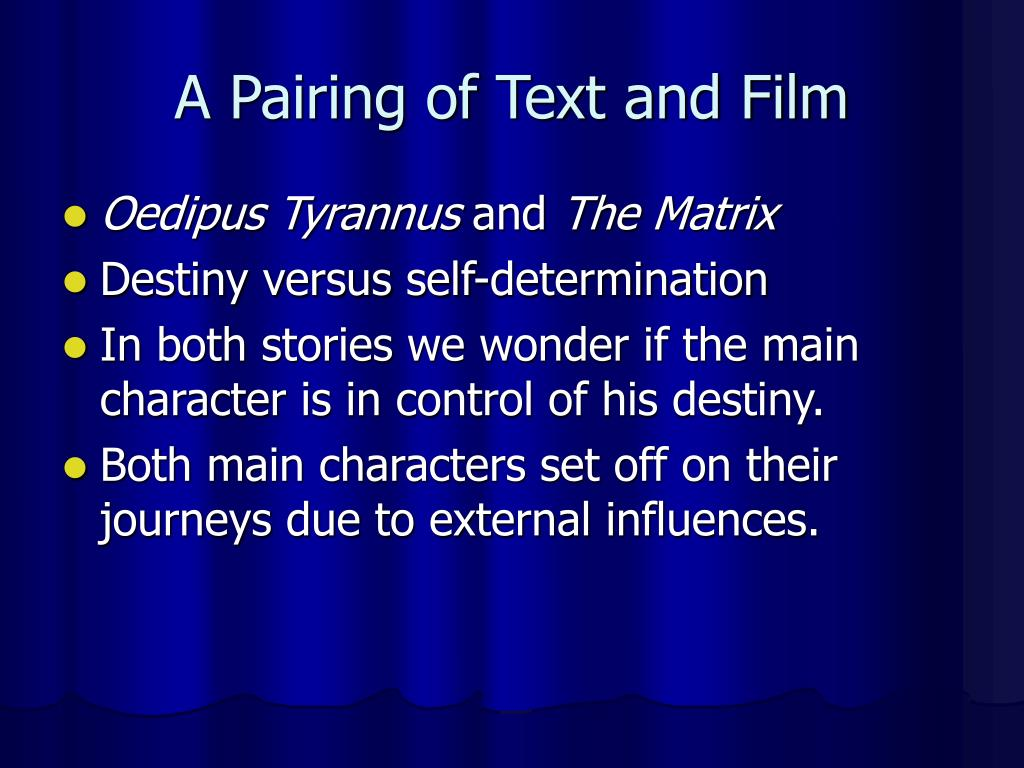 A Pairing of Text and Film