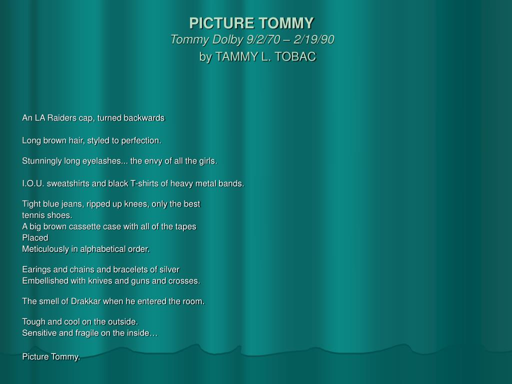 PICTURE TOMMY