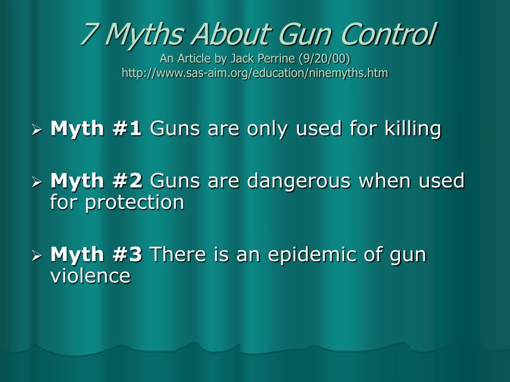 7 Myths About Gun Control