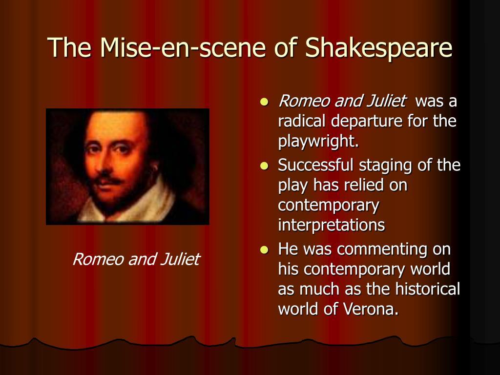 The Mise-en-scene of Shakespeare