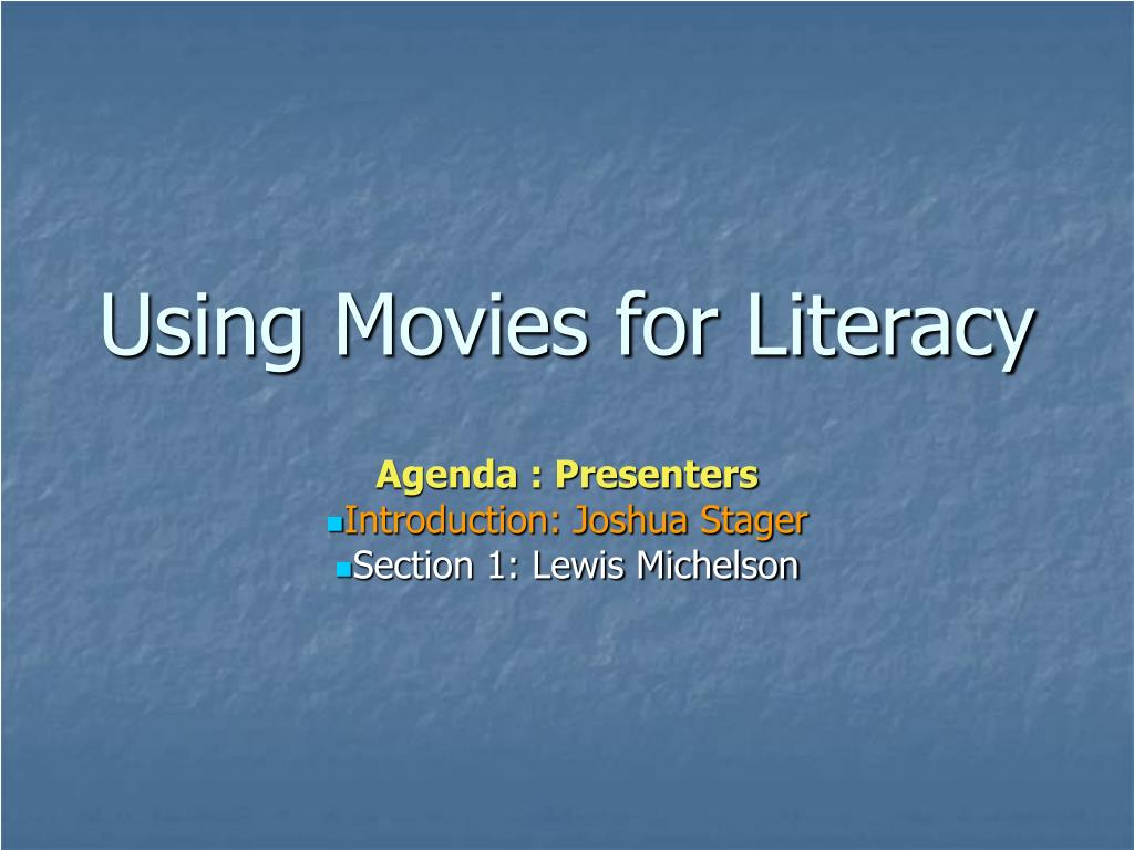 Using Movies for Literacy