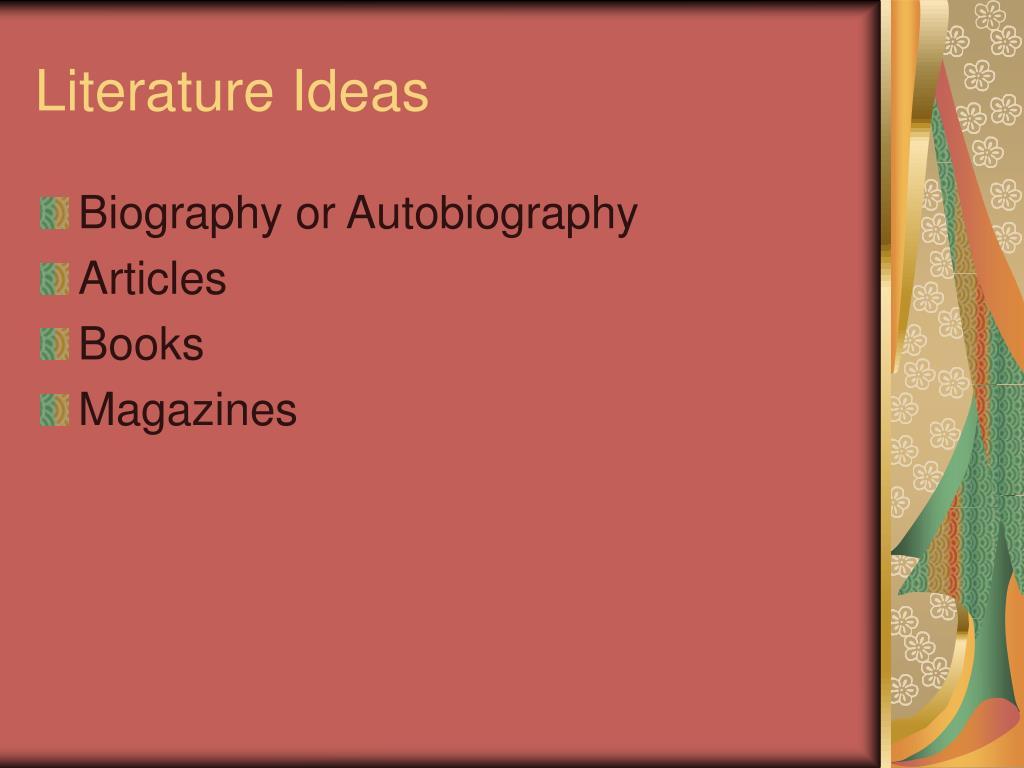 Literature Ideas
