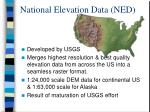 national elevation data ned