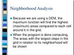 neighborhood analysis30