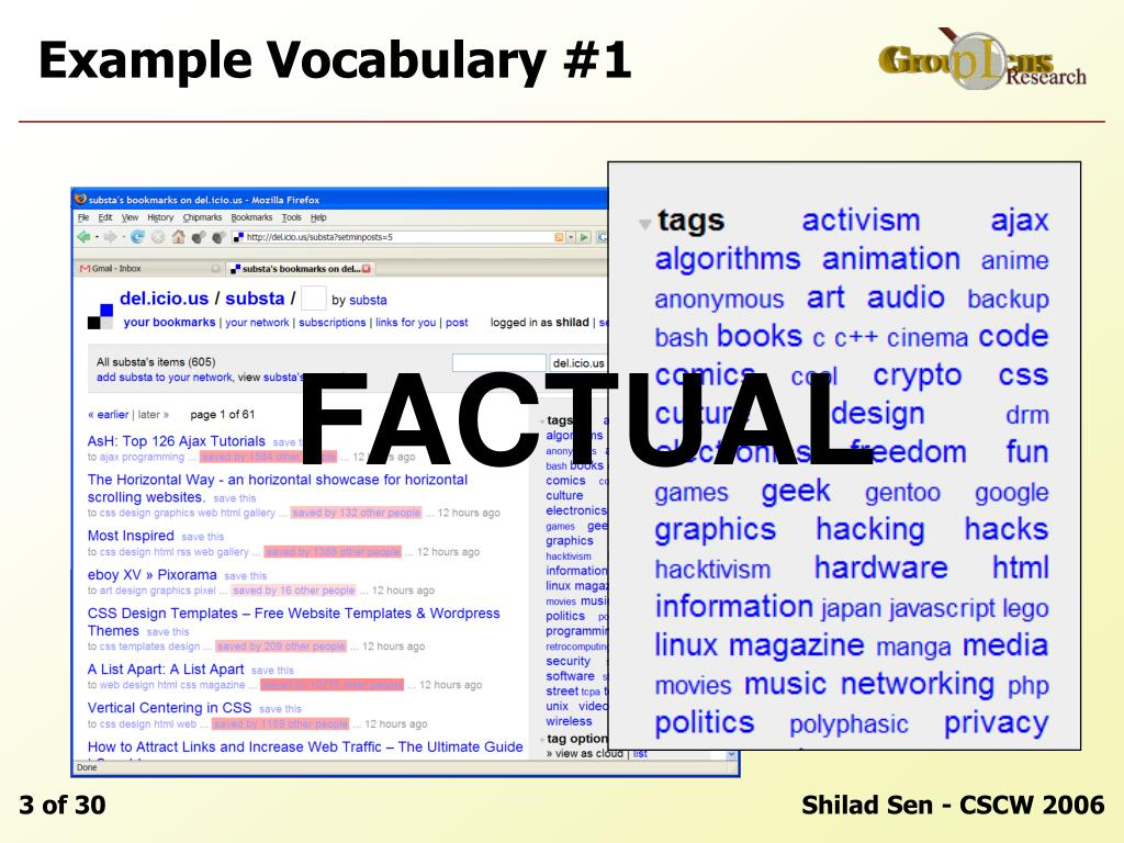 Example Vocabulary #1