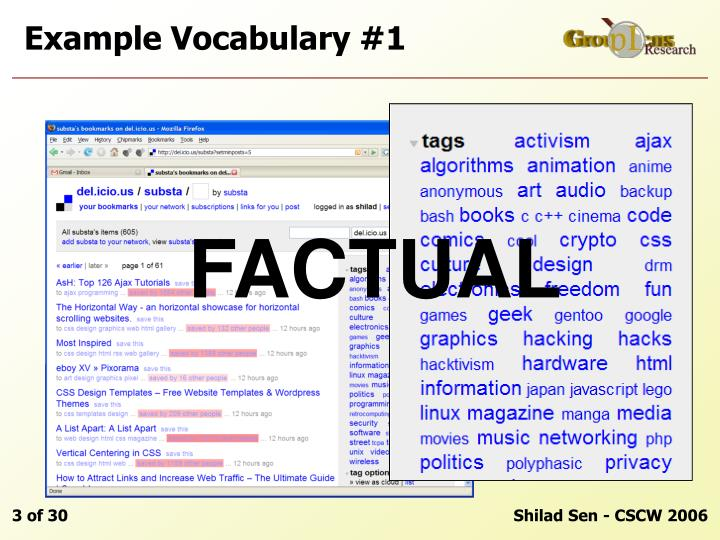 Example vocabulary 1