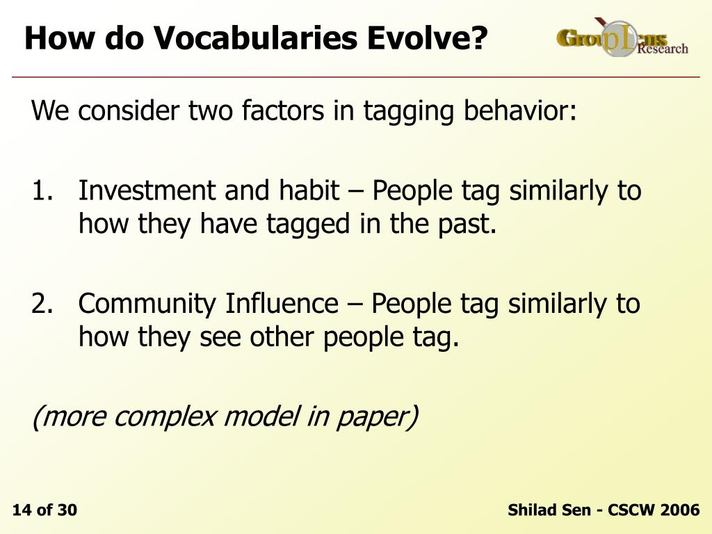 How do Vocabularies Evolve?