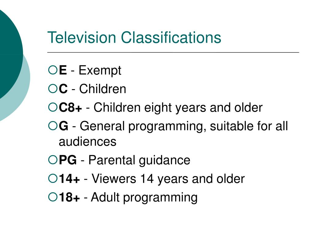 Television Classifications