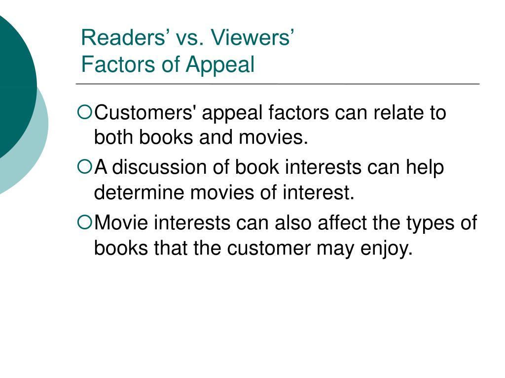 Readers' vs. Viewers'