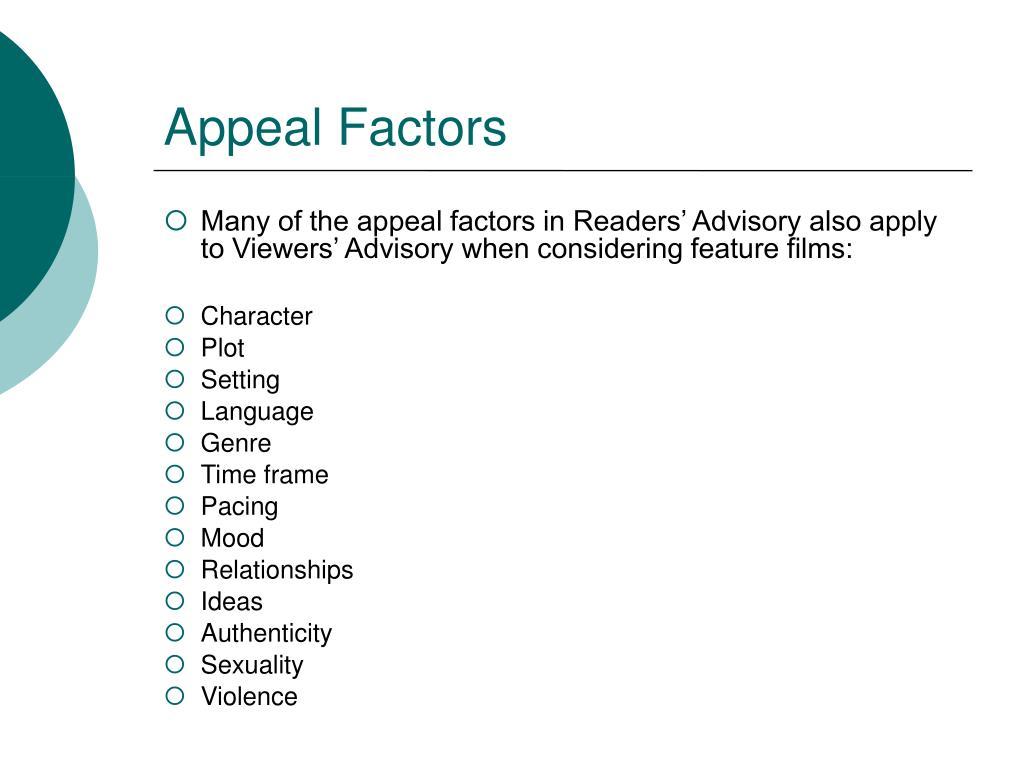 Appeal Factors