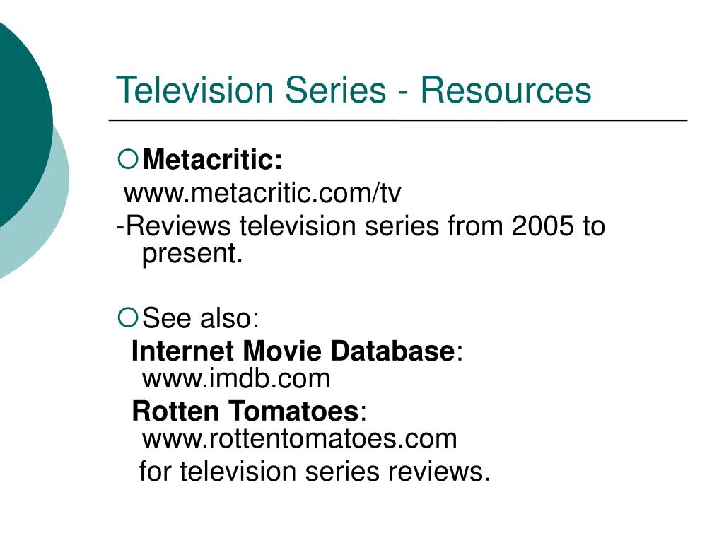 Television Series - Resources
