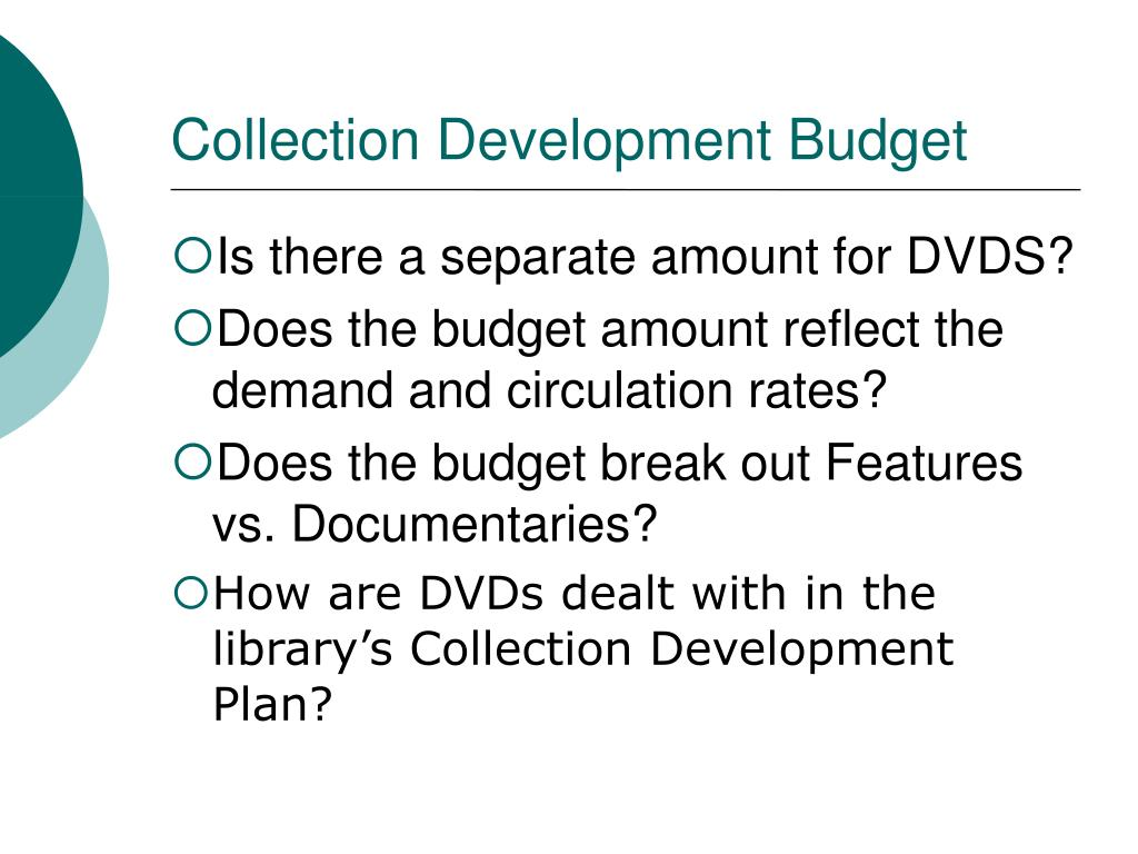 Collection Development Budget