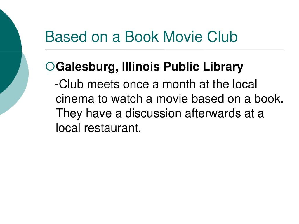 Based on a Book Movie Club