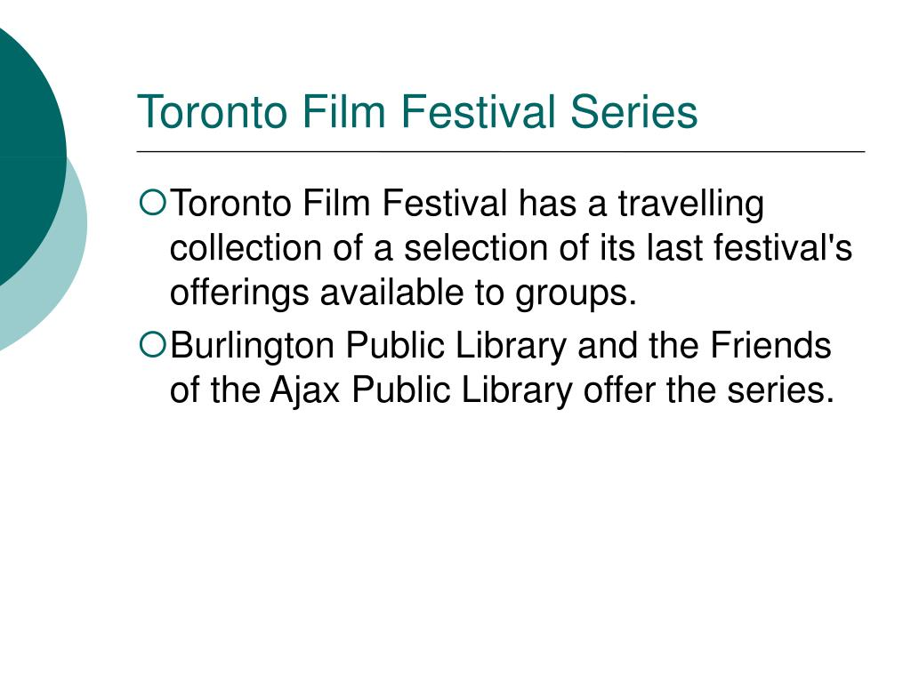 Toronto Film Festival Series