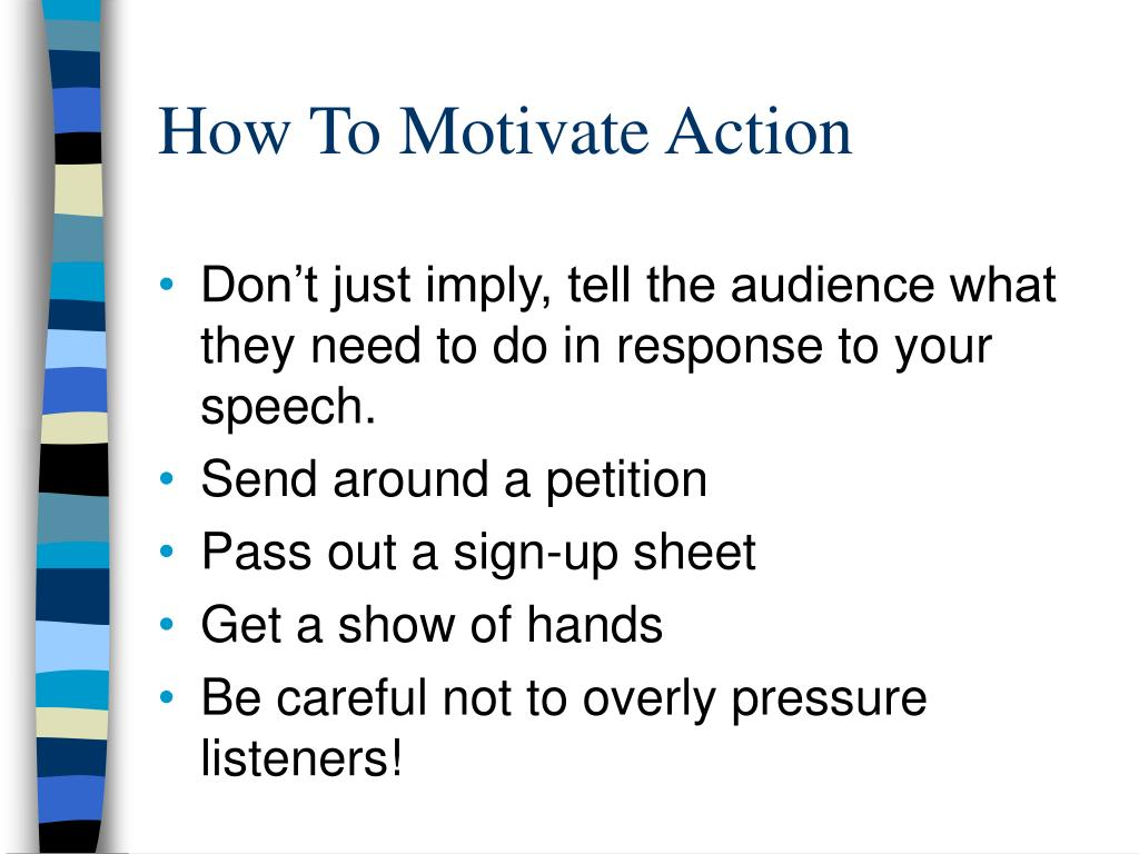 How To Motivate Action