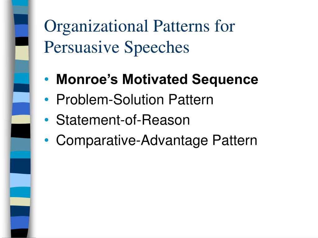 Organizational Patterns for Persuasive Speeches