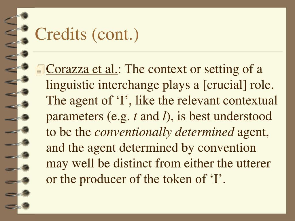 Credits (cont.)