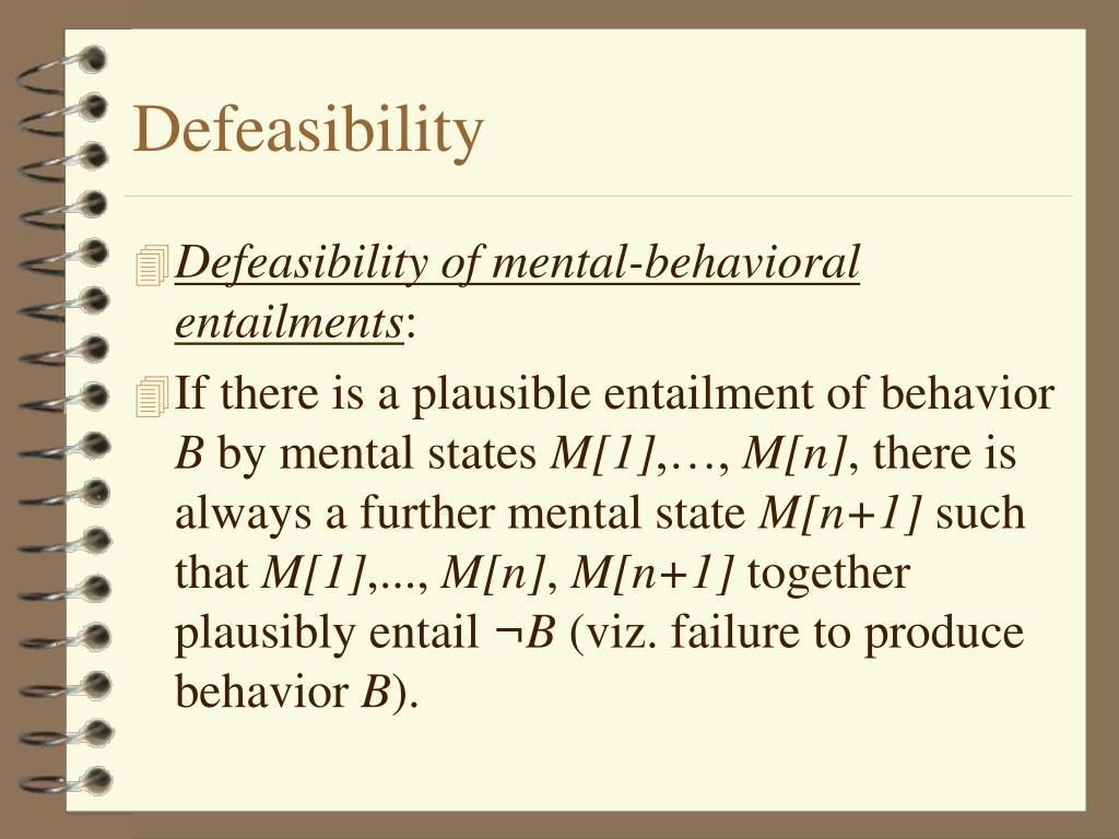 Defeasibility