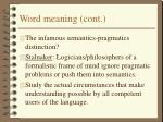 word meaning cont