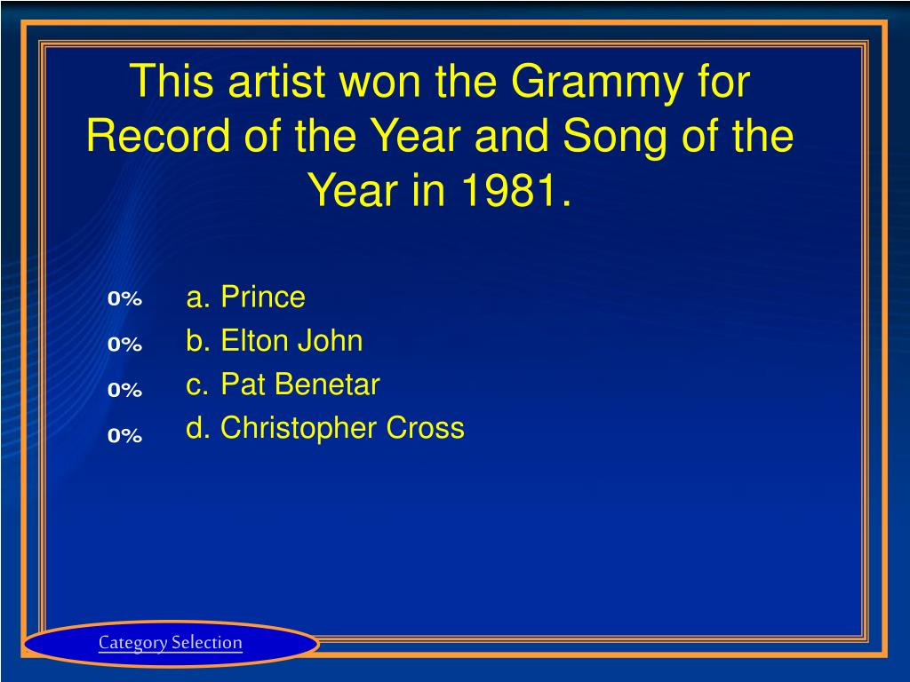 This artist won the Grammy for Record of the Year and Song of the Year in 1981.