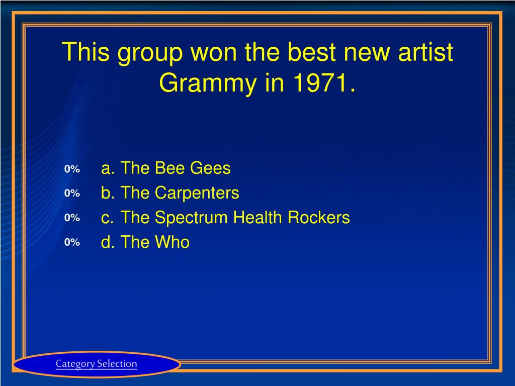 This group won the best new artist Grammy in 1971.