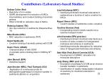 contributors laboratory based studies