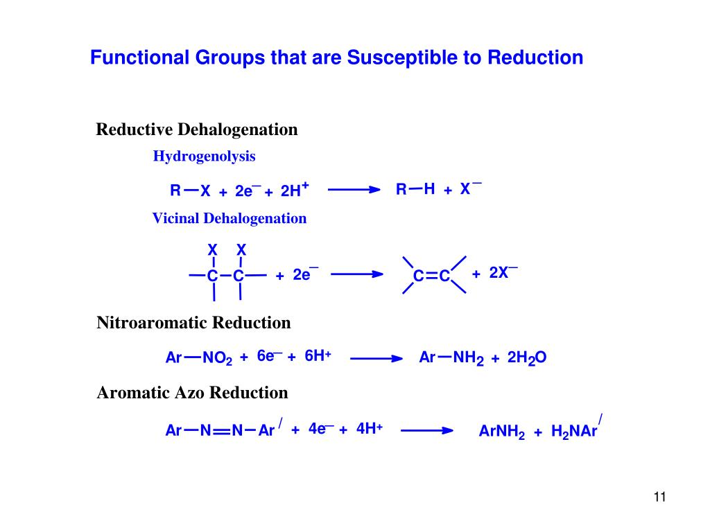 Functional Groups that are Susceptible to Reduction