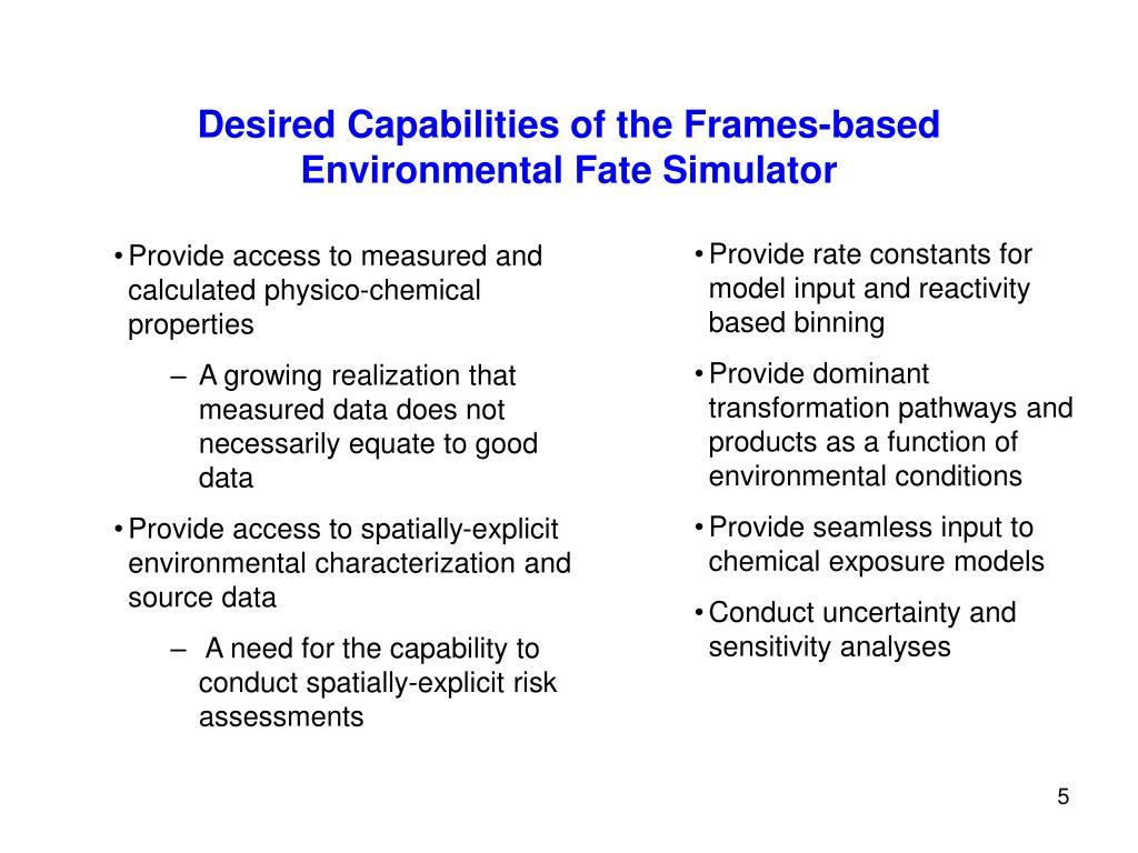 Desired Capabilities of the Frames-based