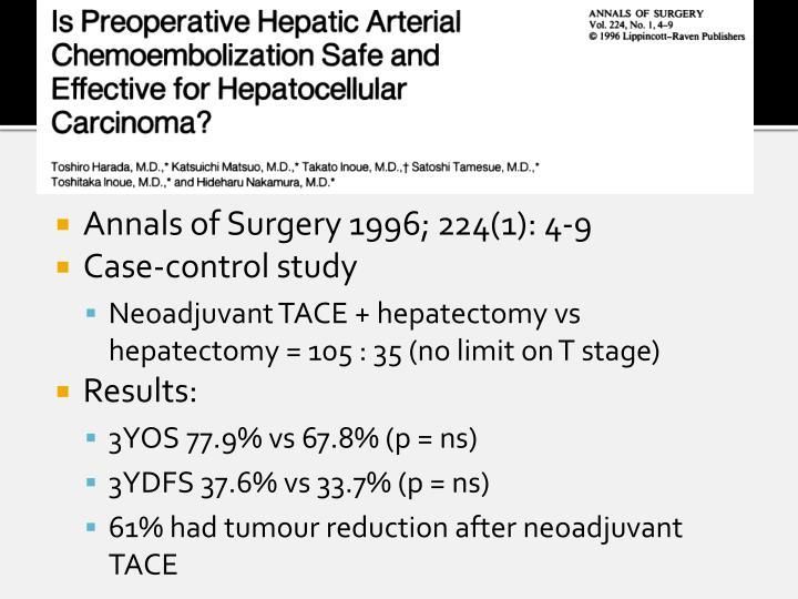Annals of Surgery 1996; 224(1): 4-9